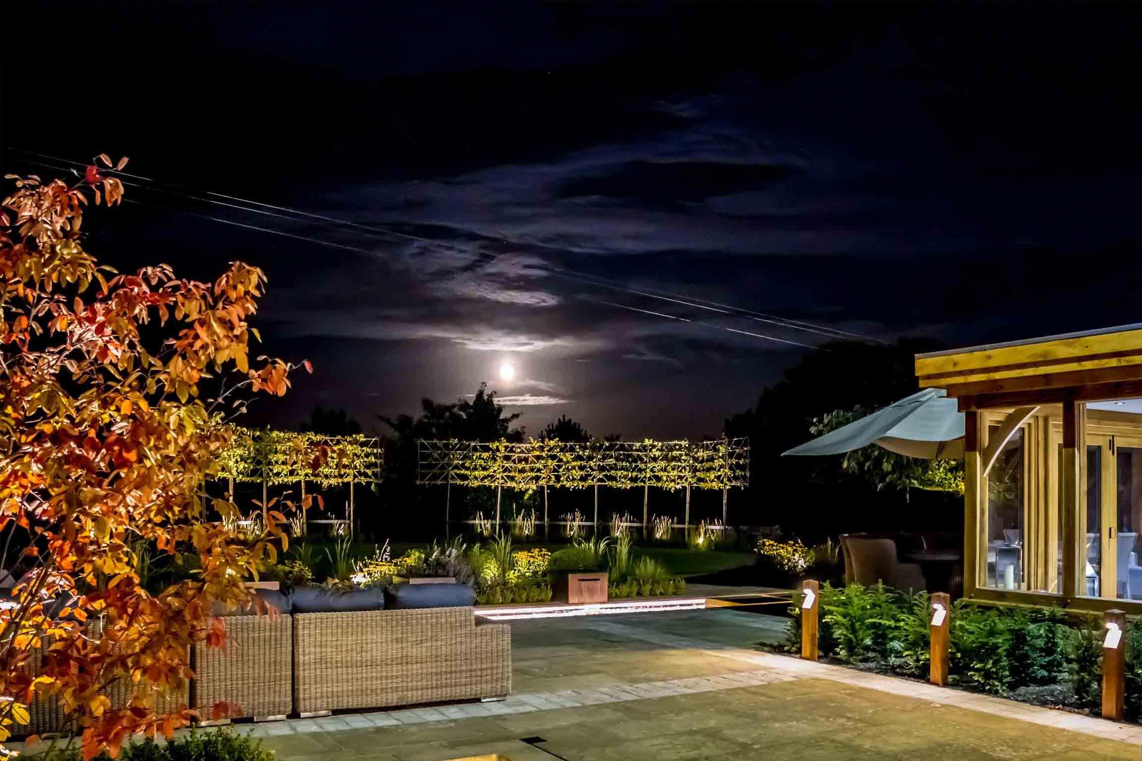 Automated garden lighting