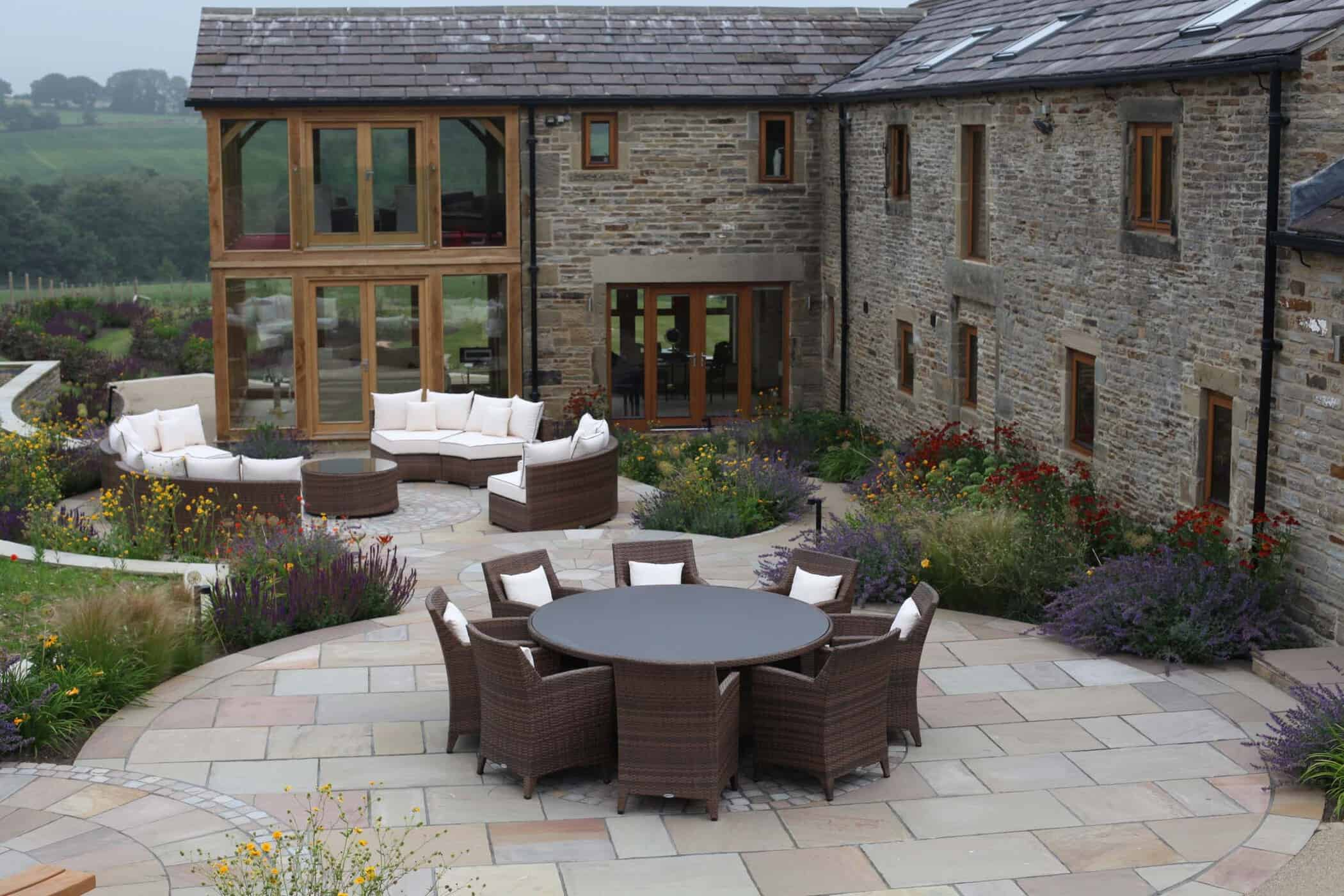 Barn Conversion-bestall and co modern country garden