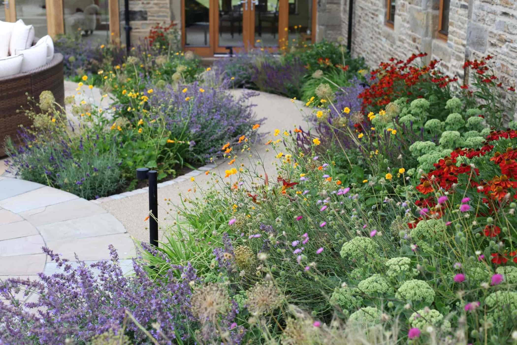 Barn Conversion bestall and co-Planting Design- Beautiful Planting