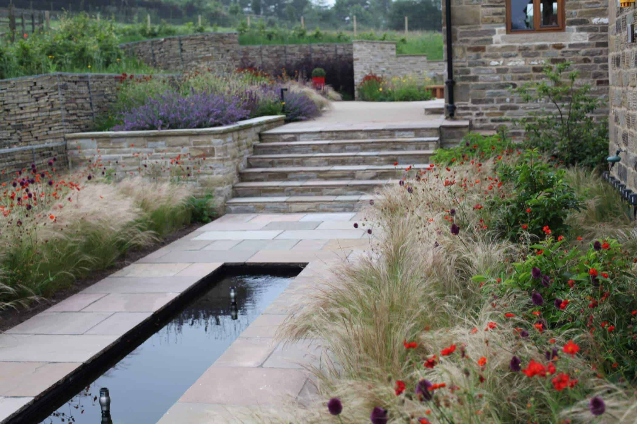 Barn Conversion-bestall and co-Seating Area-Barn Conversion- Water Feature