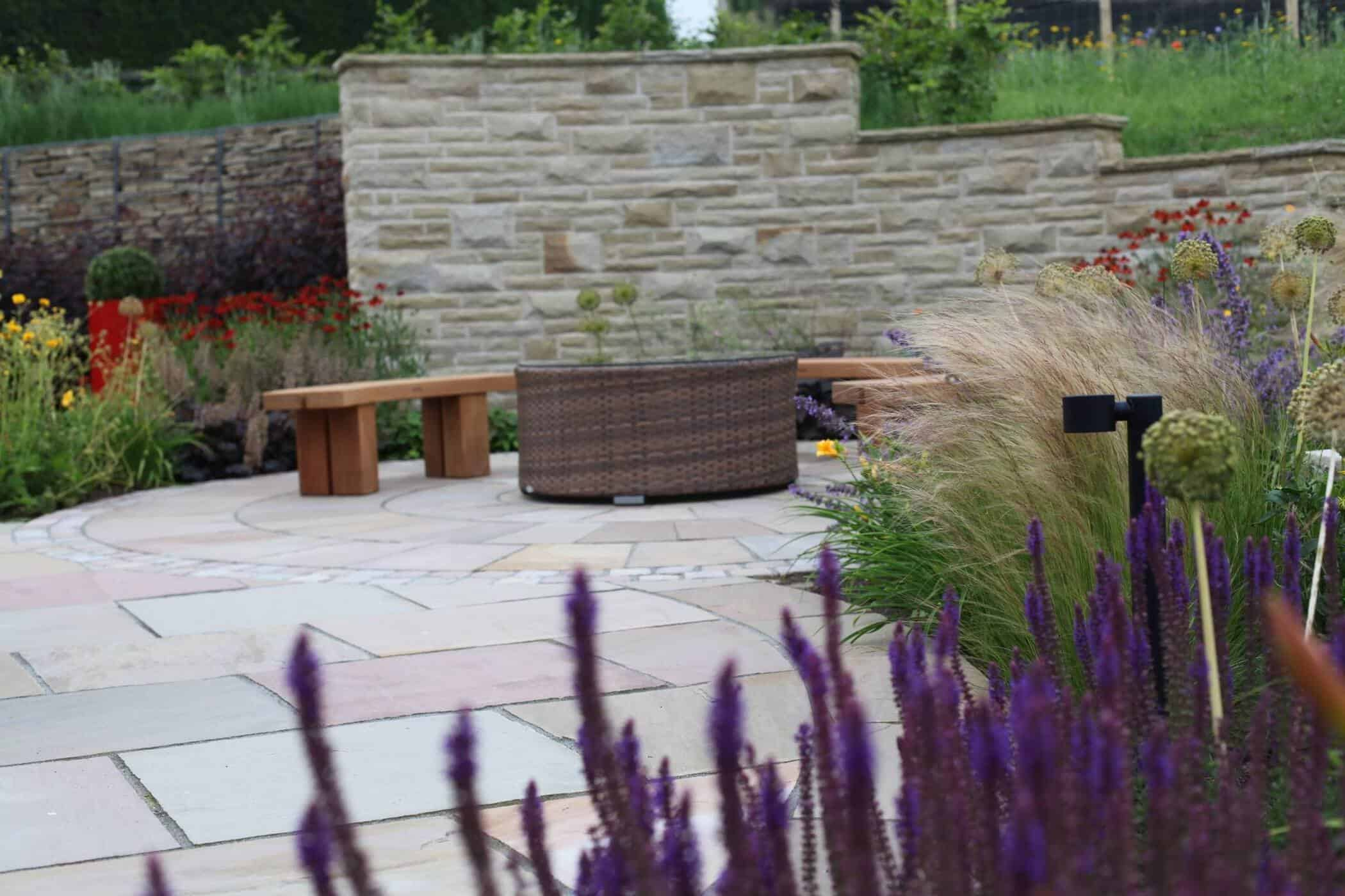 Barn Conversion-bestall and co-Seating Area modern country garden
