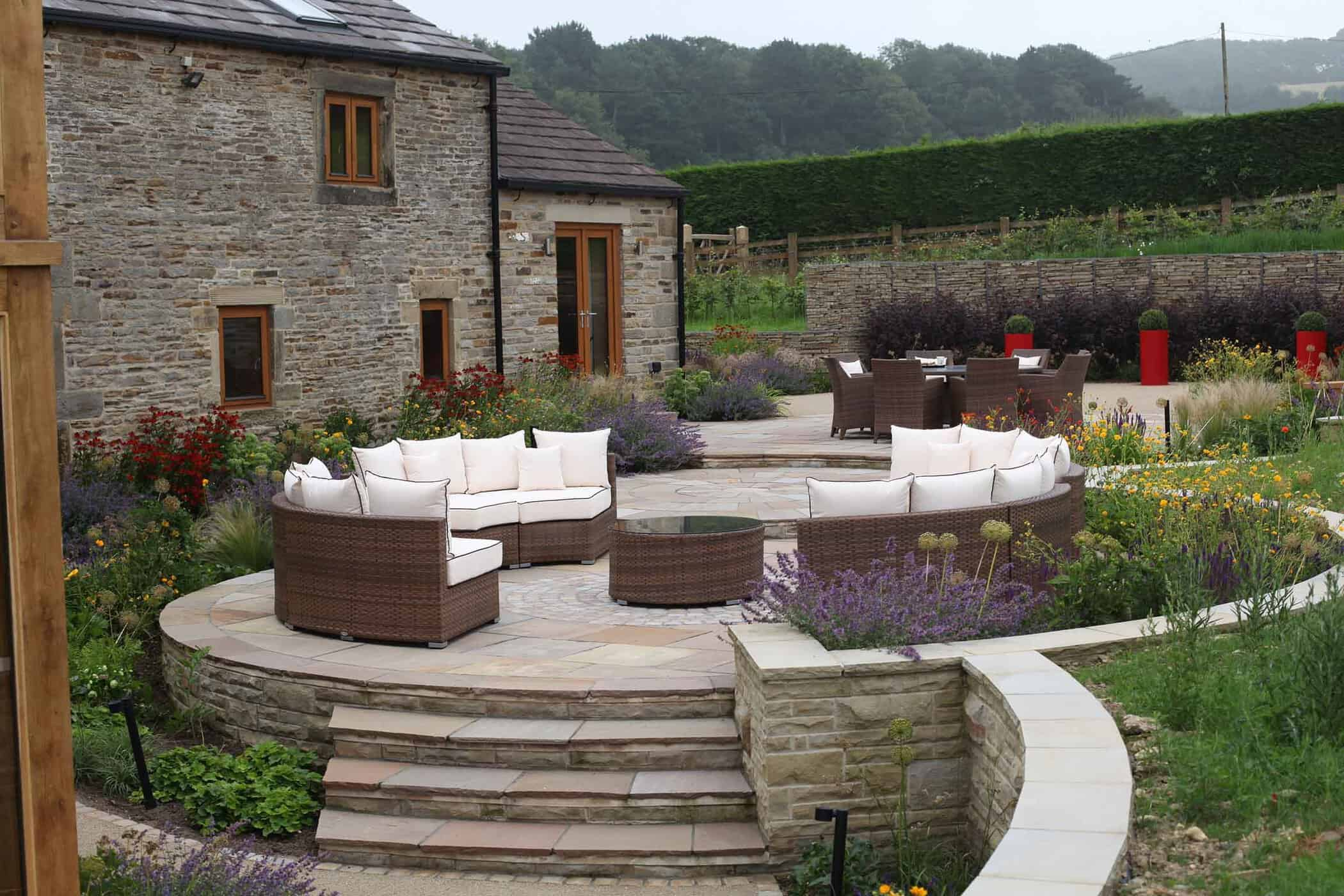 Barn Conversion bestall and co- Seating Area-Barn Conversion- Water Feature