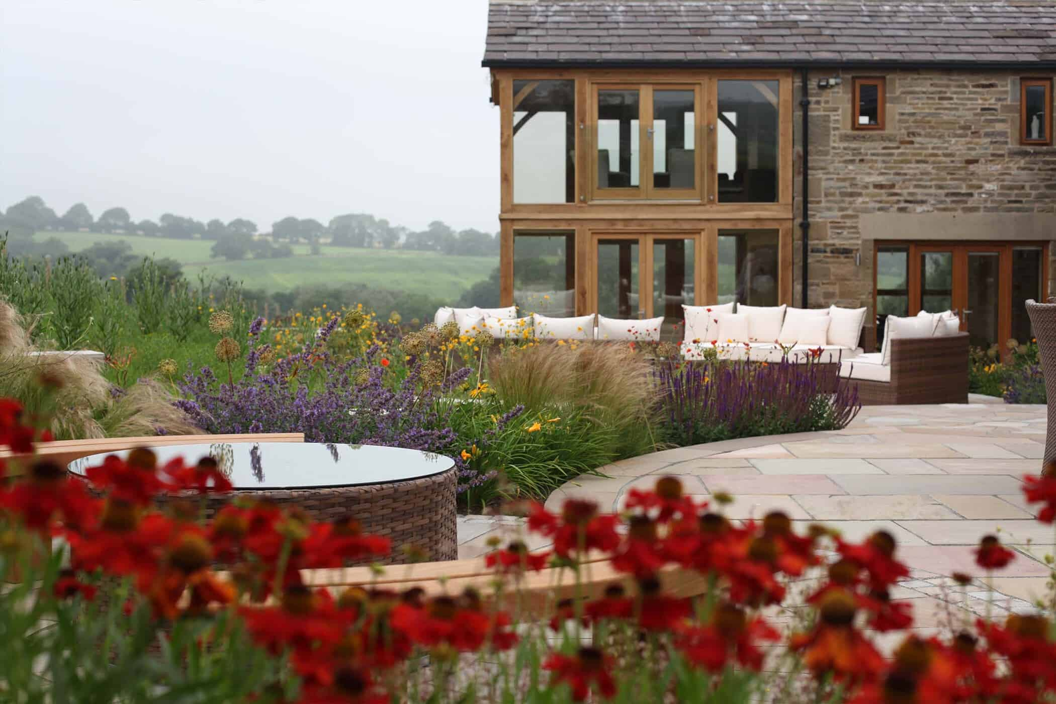 Barn-Conversion-bestall-and-co modern country garden