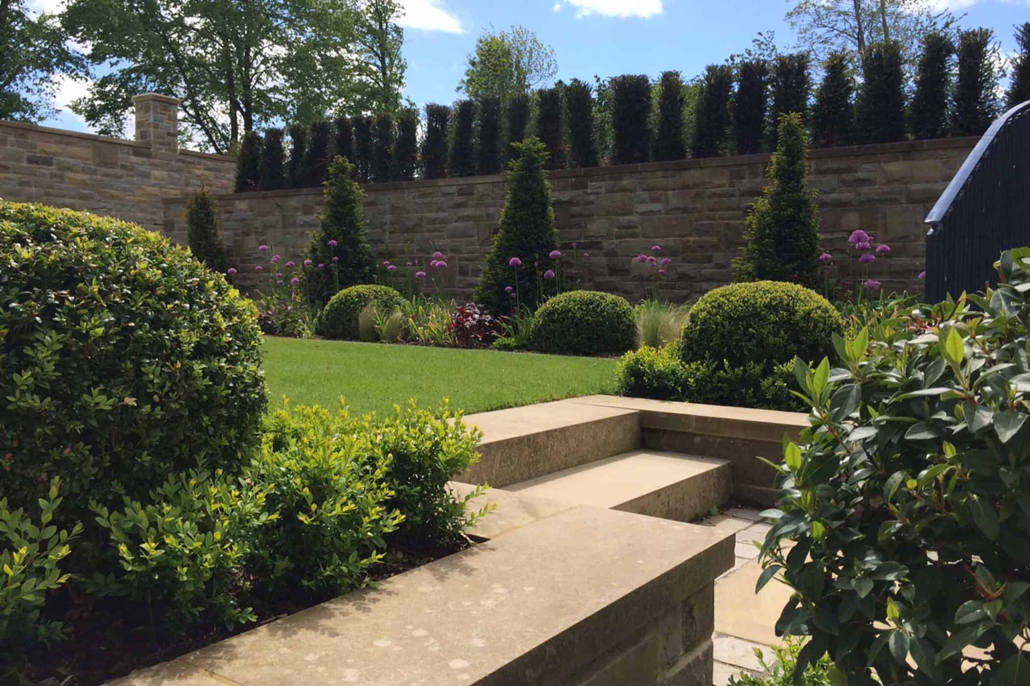 Landscape Supply Co >> Italianate Garden with level terraces and evergreen planting