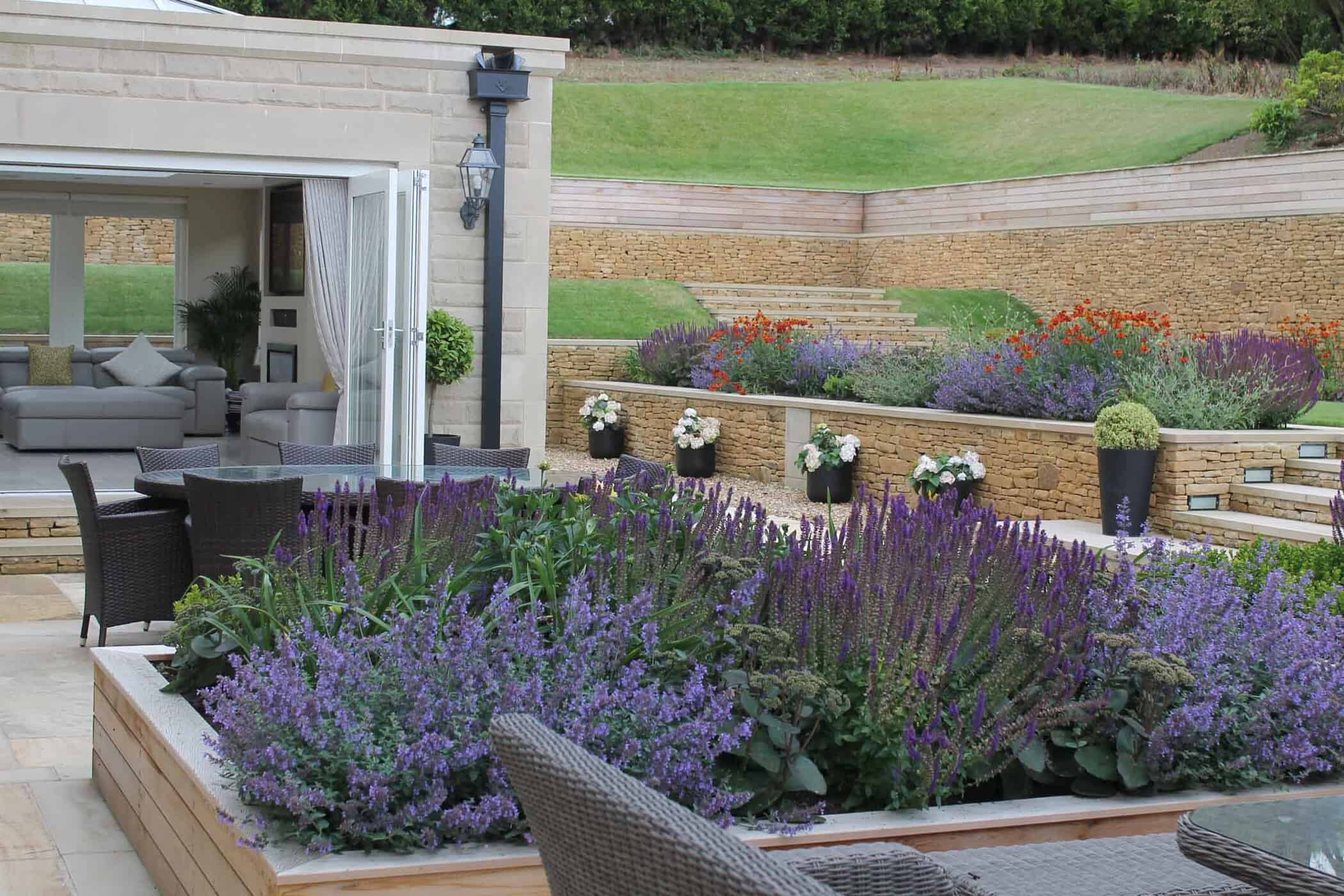 Bestall And Co Terrace Delight Modern terraced garden