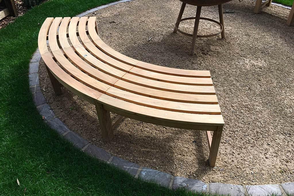 Circular Teak Wooden Bench