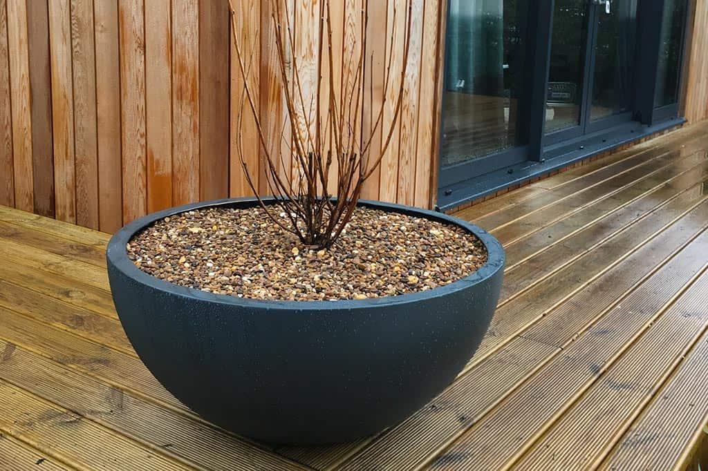 Selene Hemi bowl planter
