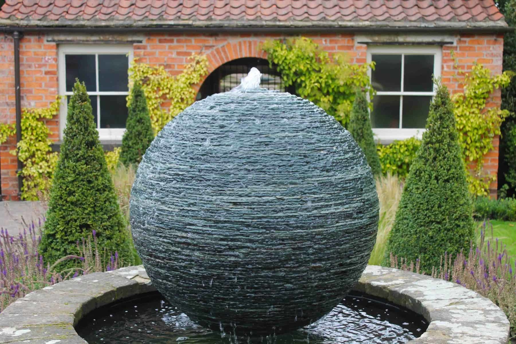 Slate Sphere Water Feature
