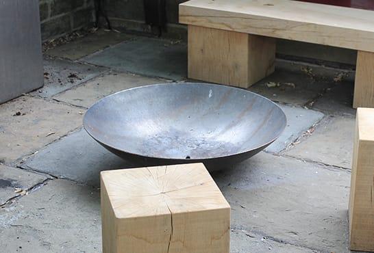 Corten Steel Fire Bowl 1